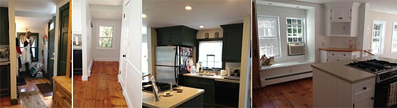 Photo: green to white cabinets